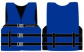 457-1000216ABL XL Blue Universal Open Side Nylon Vests