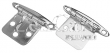 FLUSH MOUNT CONCEALED HINGES 354-2019541
