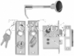 9-0927DP0CHR Mortise Lock Set
